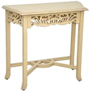 Casual Elements Newport End Table; Light Distressed Antique Cream