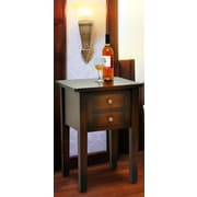 Casual Elements Jamison End Table; Medium Brown