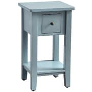 Casual Elements Simple End Table; Light Distressed Island Blue