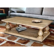 Casual Elements Coffee Table; Mango Gray Wash