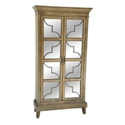 Crestview Wyndham 2 Wood and Veneer Glass Door Curio