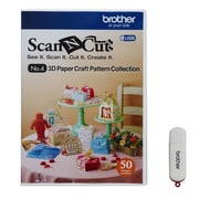 Brother Sewing ScanNCut 3D Paper Craft USB