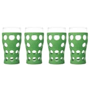 Lifefactory Everyday 20 oz. Juice Glass (Set of 4); Grass Green