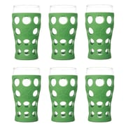 Lifefactory Everyday 20 oz. Juice Glass (Set of 6); Grass Green
