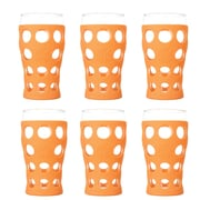 Lifefactory Everyday 20 oz. Juice Glass (Set of 6); Orange