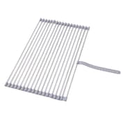 LuxorWare Roll-up Folding Drying Rack Colander Built-in Hook and Loop Fastening Rack Tie; Chrome