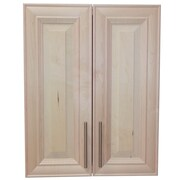 WG Wood Products Overton 21'' W x 29'' H Surface Mount Medicine Cabinet; Unfinished