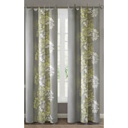 Madison Park Anaya Cotton Grommet Single Light-filtering Curtain Panel; Yellow / Gray