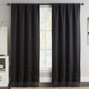 VCNY Amber Blackout Curtain Panels (Set of 2); Black