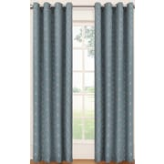 Eclipse Curtains Tipton Trellis Single Curtain Panel; River Blue