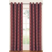 Eclipse Curtains Tipton Trellis Single Curtain Panel; Sangria