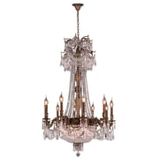Worldwide Lighting Winchester 18 Light Crystal Chandelier; Antique Bronze