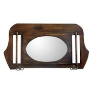 Novica Handcrafted Contemporary Wood Wall Mirror