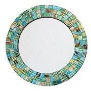 Novica Artisan Crafted Round Glass Mosaic Mirror