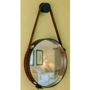 Novica Contemporary Rustic Leather Wall Mirror