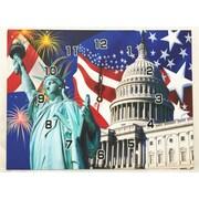 Creative Motion Retangular USA Flag Clock