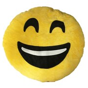 Creative Motion Smiley Face with Teeth Showing Emoji Sofa Cushion