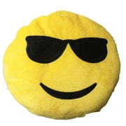 Creative Motion Smiley Face with Cool Sunglasses Emoji Sofa Cushion