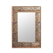 Novica Hand Crafted in Reverse Painted Glass Wall Mirror