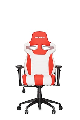 Vertagear High-Back Gaming Office Chair with Arms; White \/Red