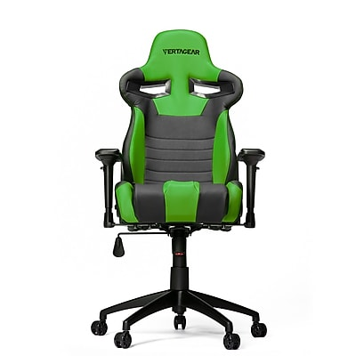 Vertagear High-Back Gaming Office Chair with Arms; Black\/Green