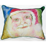 Betsy Drake Interiors Santa Face Indoor/Outdoor Throw Pillow