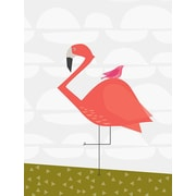 GreenBox Art 'Fancy Flamingo' by Stacy Amoo Mensah Painting Print on Canvas; 18'' H x 14'' W