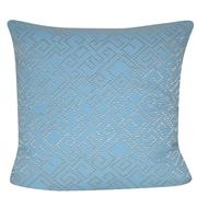 Loom and Mill Geo Maze Throw Pillow; Light Blue