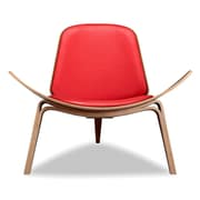 Kardiel Plywood Modern Lounge Chair; Red