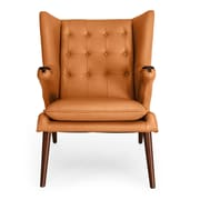 Kardiel Bear Wegner Papa Wing Arm Chair and Ottoman; Canyon