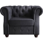 Mulhouse Furniture Olivia Tufted Barrel Chair; Charcoal