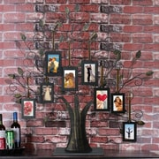 AdecoTrading 8 Opening Decorative Iron Tree Table Top Collage Picture Frame