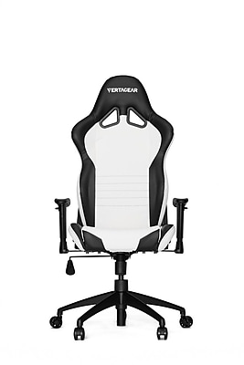 Vertagear High-Back Gaming Office Chair with Arms; White\/Black
