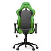 Vertagear High-Back Gaming Office Chair with Arms; Black/Green