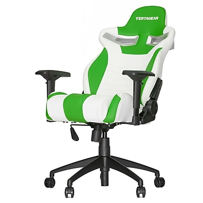 Vertagear High-Back Gaming Office Chair with Arms; White\/Green