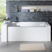 PacificCollection Delano 59'' x 32'' Soaking Bathtub; Right