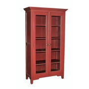 Casual Elements Library Cabinet; Light Distressed Bali Red
