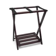 Lipper Right Height Luggage Rack with Shoe Rack - Espresso finish (502E)