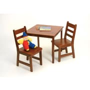 Lipper Child's Square Table & 2 Chairs Set -Cherry (514C)