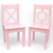 Lipper Child's  S/2 Chair-Light Pink (521-2PK)