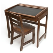 Lipper Child's Desk w/Chalkboard Top & Chair - Walnut (554WN)