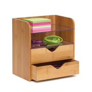 Lipper International Bamboo 4 Tier Organizer with Acrylic Dividers (904)
