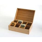 Lipper Bamboo 8-compartment Tea Box (8188)