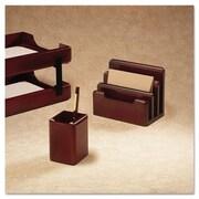 Rolodex  Wood Tones Pencil Cup, Mahogany, 3.13 x 3.13 x 4.5 (AZERTY14816)