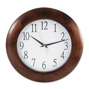 Universal  Round Wood Clock, 12.75 in., Cherry (AZERTY16035)
