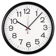 Universal  Indoor-Outdoor Clock, 13.5 in., Black (AZERTY16040)