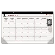 At-A-Glance  Wounded Warrior Project Monthly Desk Pad, 17.75 x 10.88, Black (AZERTY16413)
