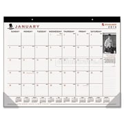 At-A-Glance  Wounded Warrior Project Monthly Desk Pad, 22 x 17, Black(AZERTY16414)