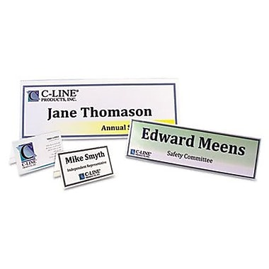 C line scored tent cards white cardstock 2 x 35 4 sheet for Tent cards staples