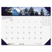 House of Doolittle 176 Mountains of the World Photographic Monthly Desk Pad Calendar- 22 x 17 (AZHOUS176)